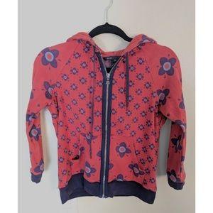 Marc Jacobs vintage floral zip up cotton hoodie
